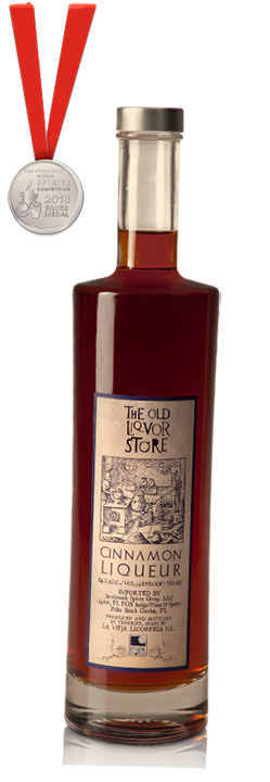 The Old Liquor Store, Cinnamon Liqueur, San Francisco World Spirits Competition Silver Medal